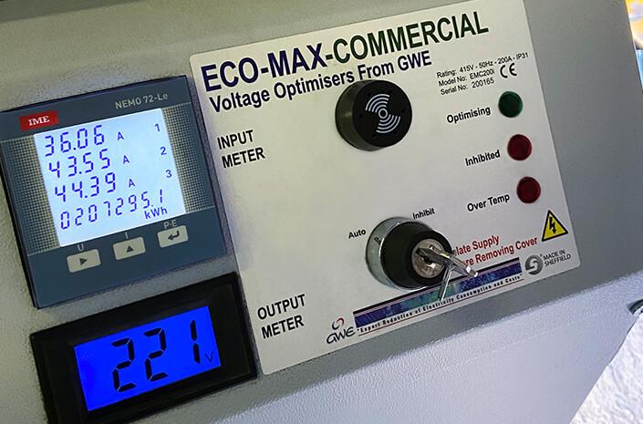 Eco-Max Voltage Optimisation Unit in Use